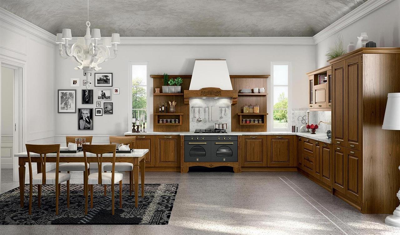 Cucina classica arredamenti cucina zona cottura - Arredamento cucina classica ...