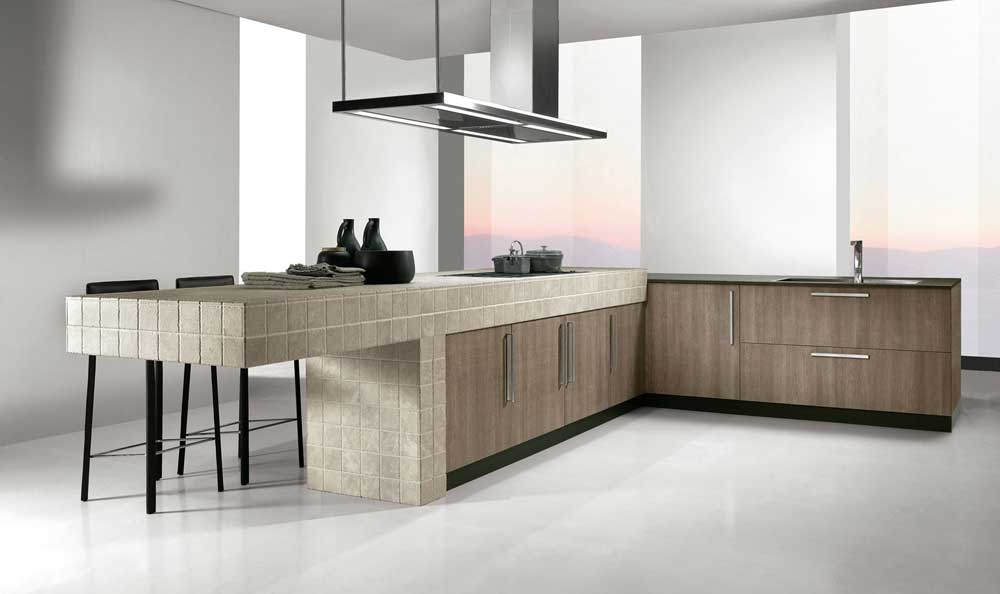 Affordable cucina modernazona cottura with cucine a ferro - Cucina a ferro di cavallo ...